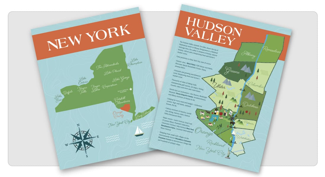 Hudson Valley Illustrated Map