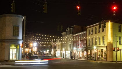 Downtown Goshen, NY at Night